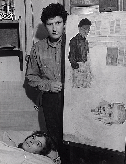 Brassaï, Lucian Freud, 1954, gelatin silver print, National Gallery of Art, Washington, Robert B. Menschel Fund