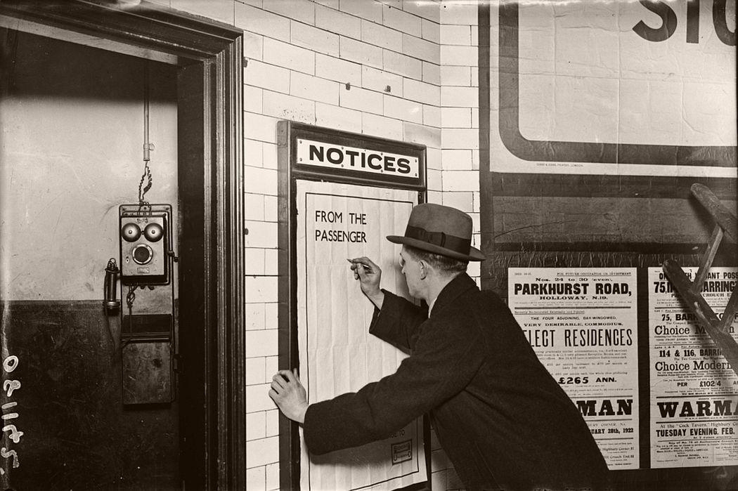 Customer complaint, 1922.