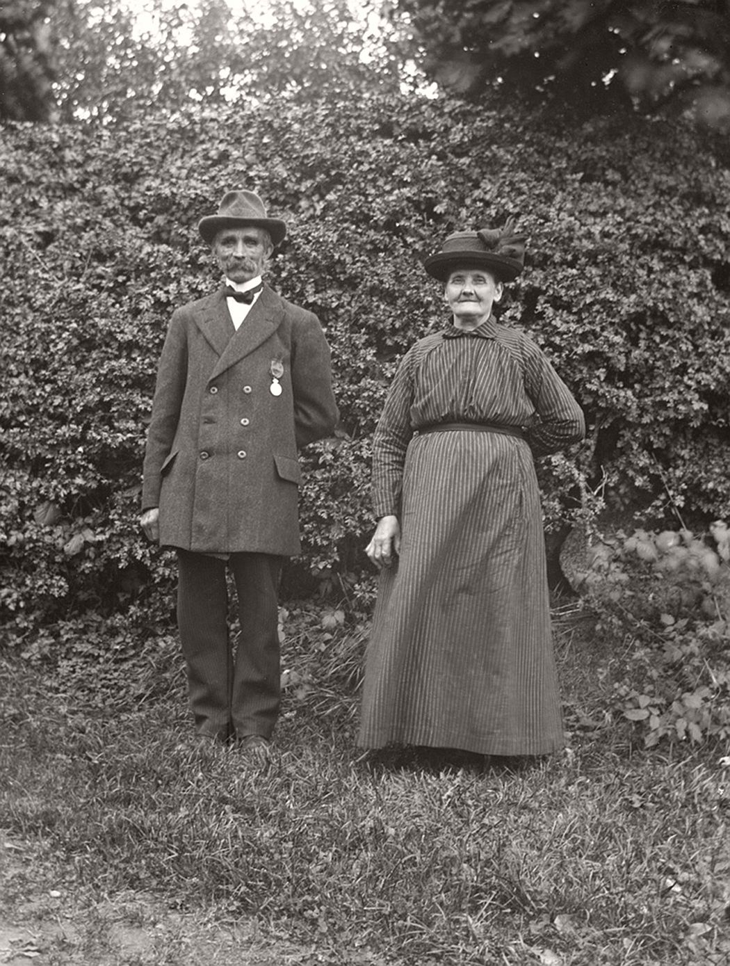 Kyrkvaktmästare August Käl and his wife from Liljeholmen