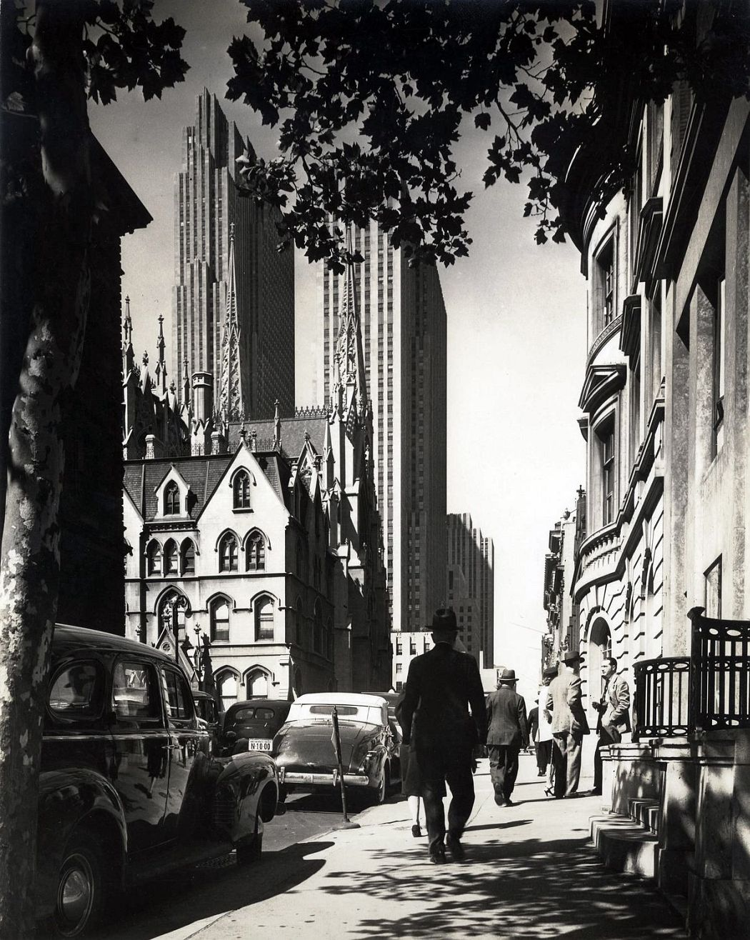 """Gothic & Modern"" St. Patricks Cathedral & Rockefeller Center (51st St looking East)"
