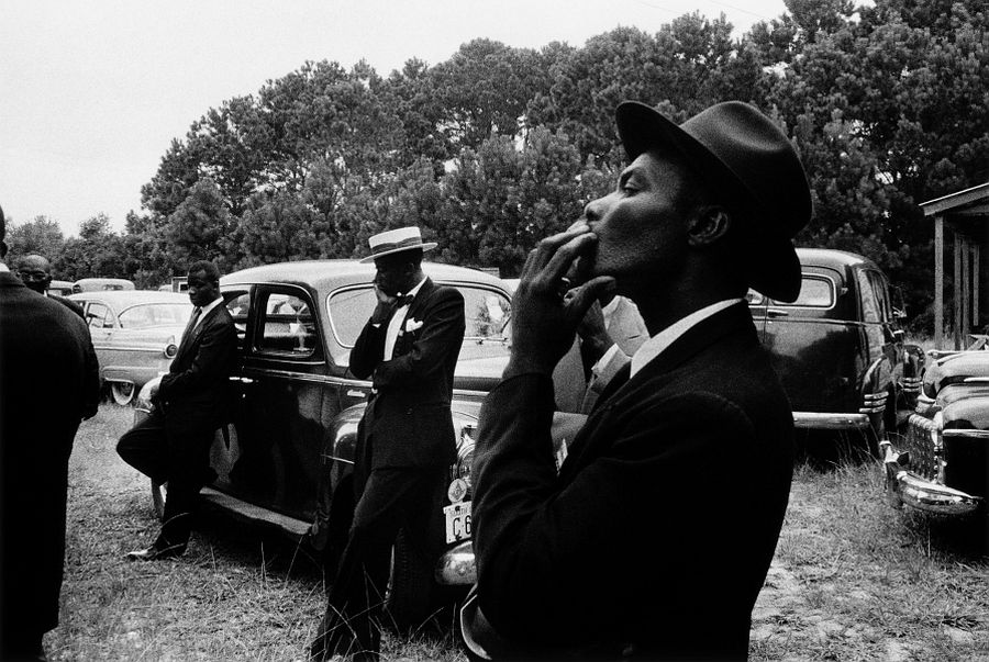 Robert Frank, Funeral - St. Helena, South Carolina, from the book The Americans, © Robert Frank