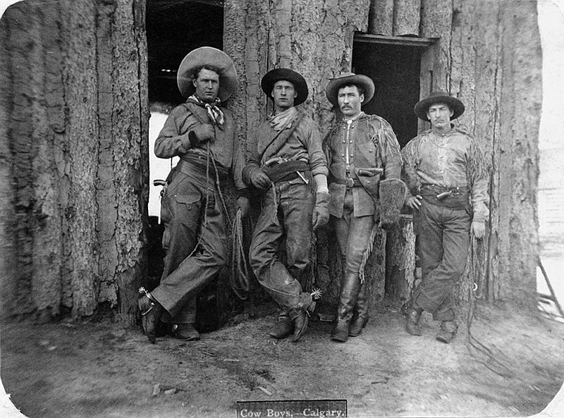 Calgary Cowboys, Alberta, 1883
