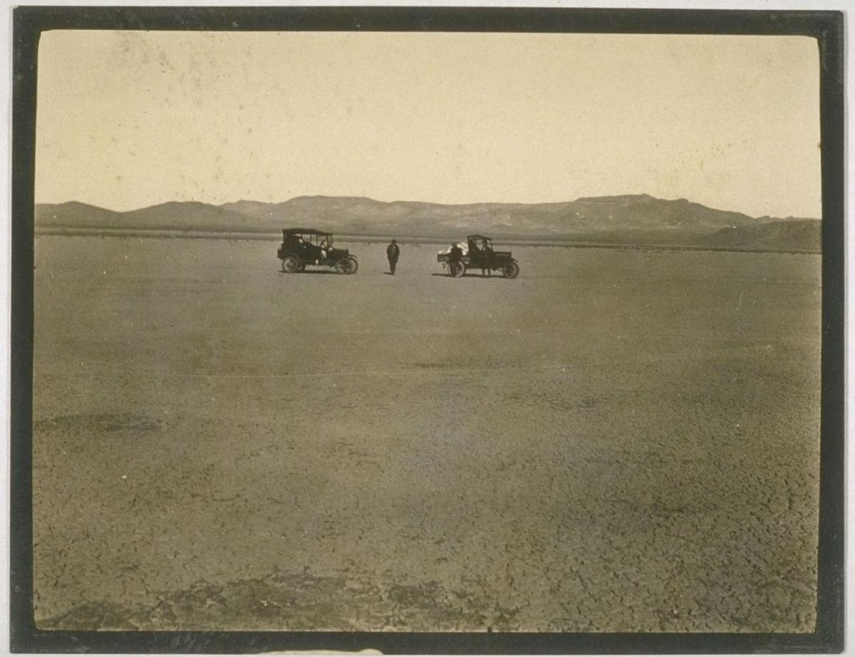 Our first picture, a dry lake Jan. 9, 1926.
