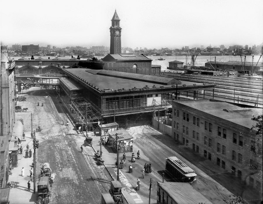 Hoboken terminal on Observer Highway, Hoboken, NJ, 1910