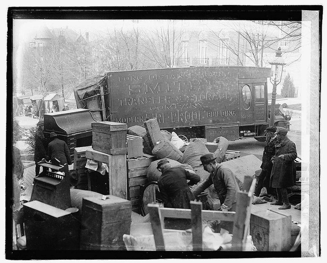 Wilson moving, 1921.