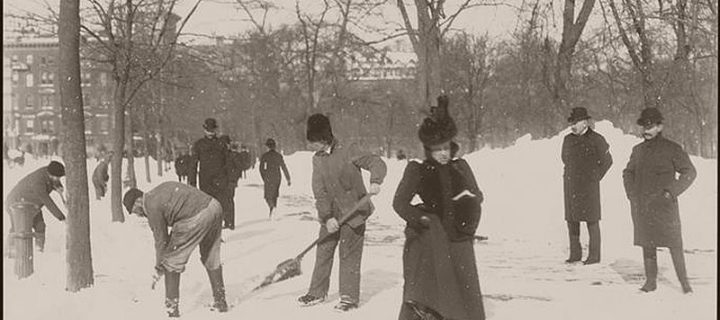 Vintage: Snow Removal in the New York City (late 19th Century)