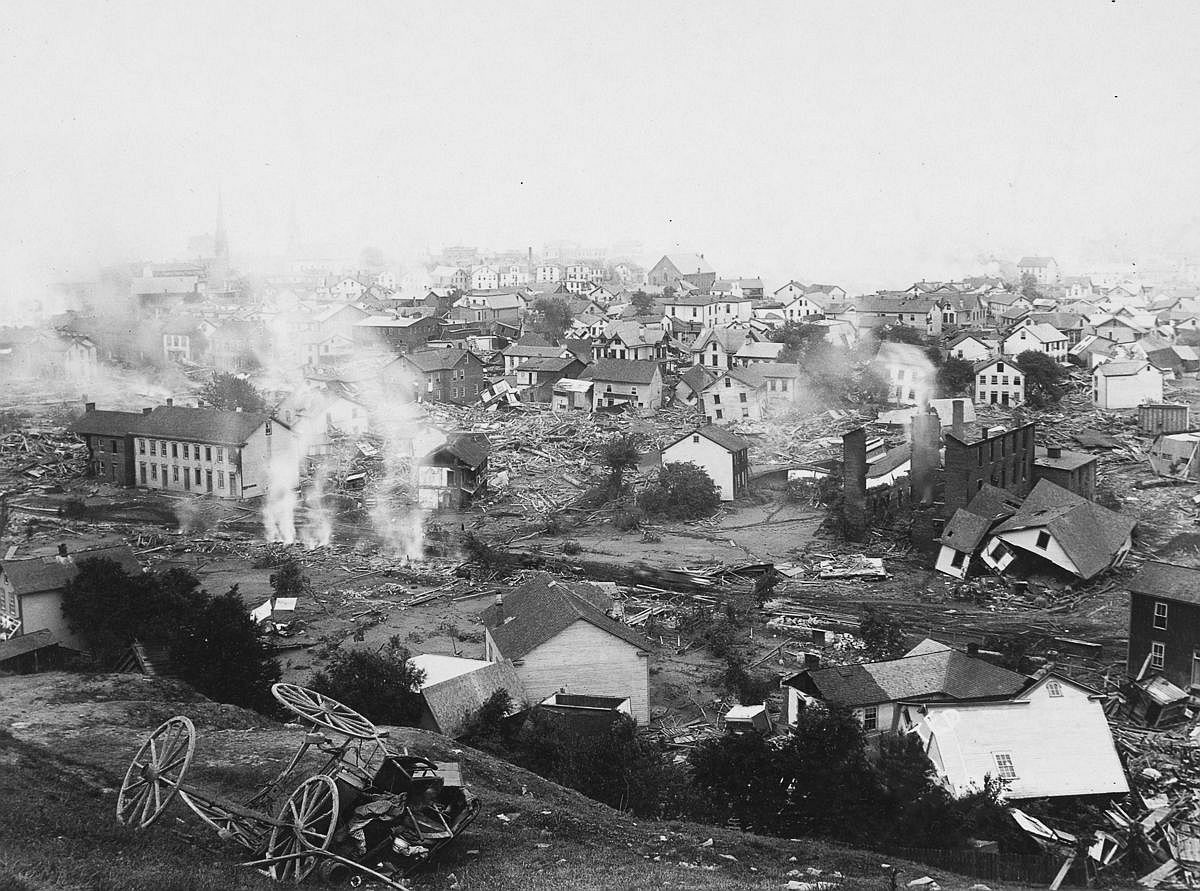 The ruins of Johnstown.  Image: Library of Congress