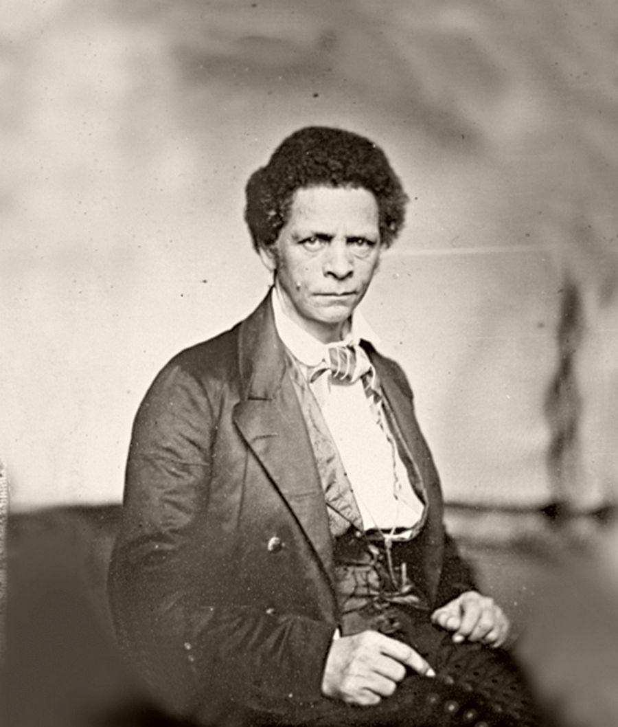 Joseph Jenkins Roberts, the first and seventh president of Liberia, 1851.