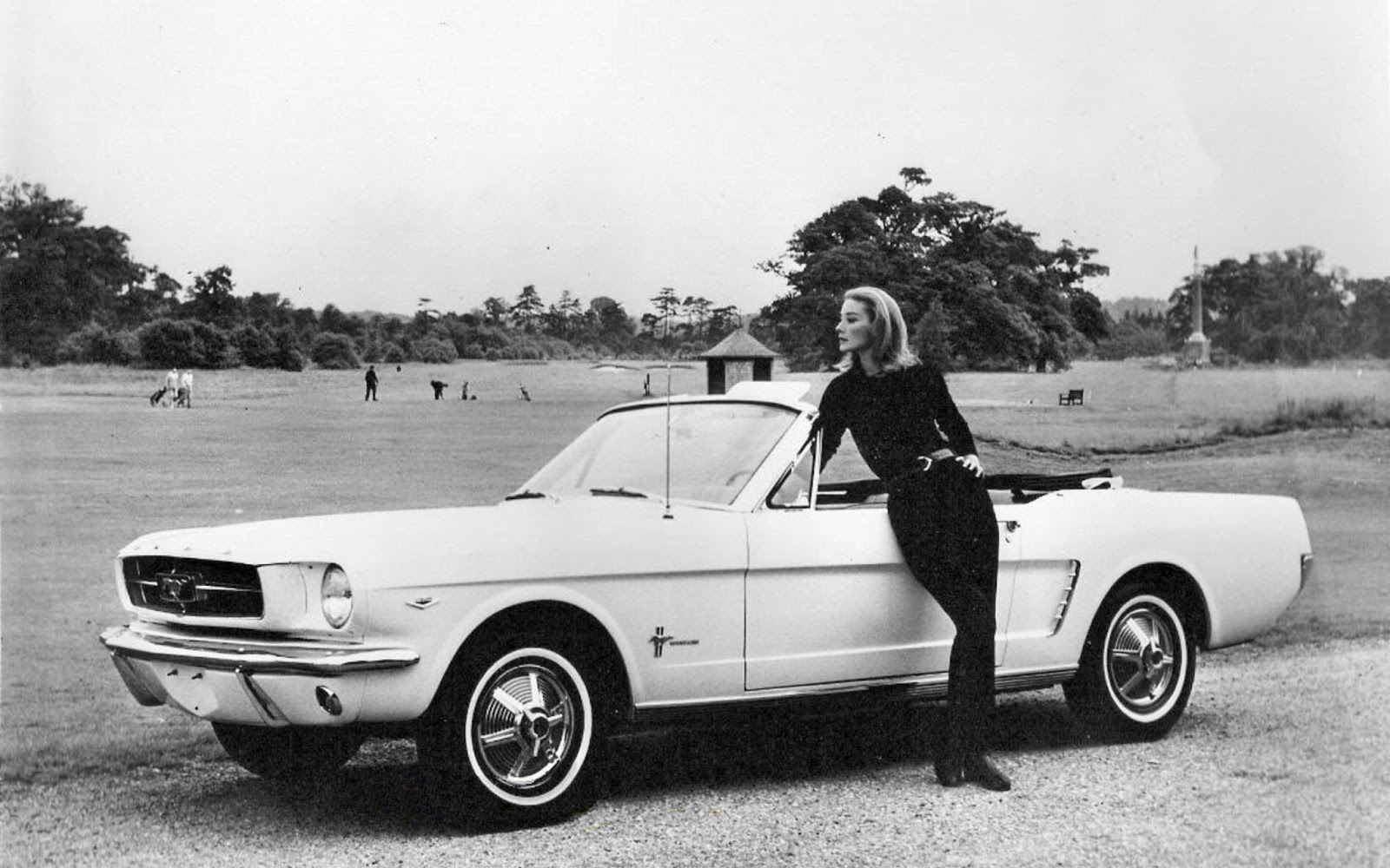 "Tilly Masterson's Ford Mustang was supposedly the first appearance by a Mustang in a major motion picture. The Mustang was introduced in April of 1964 and ""Goldfinger"" was released in December. Ford supplied many cars to the film including the CIA agents' Thunderbird, all of Goldfinger's goons cars, and the Lincoln Continental that is crushed."