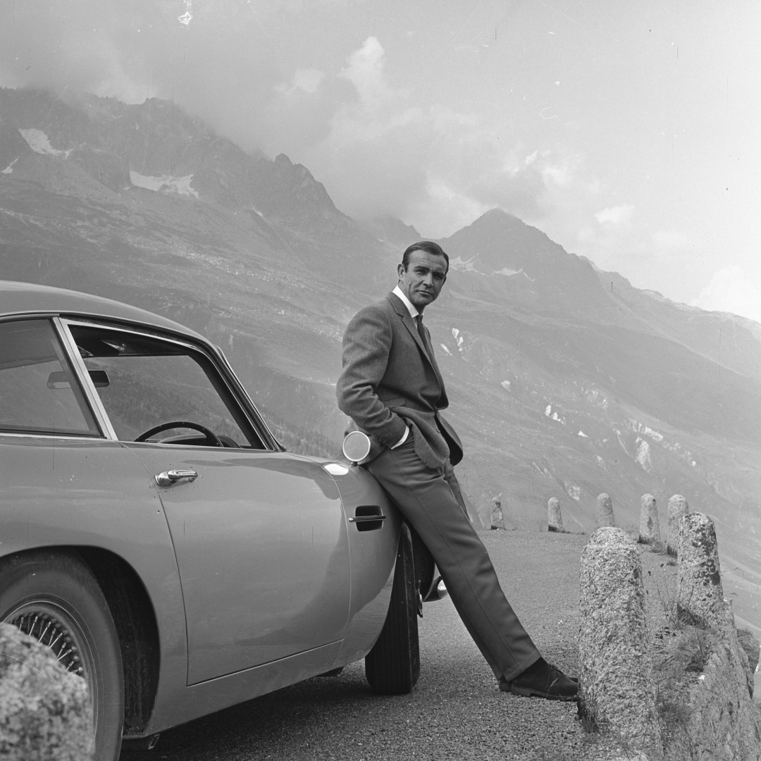 Sales of the Aston Martin DB5 increased by fifty per cent after the release of the movie.
