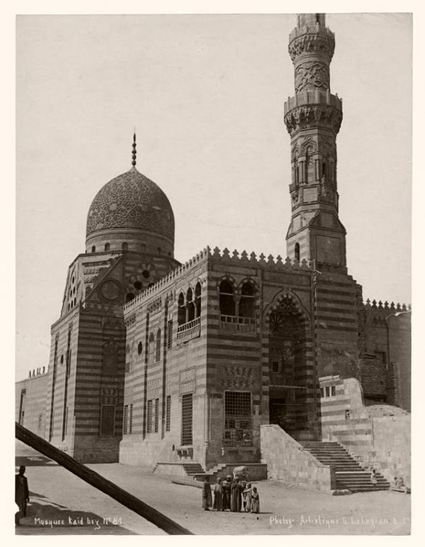 People at a mosque in Cairo