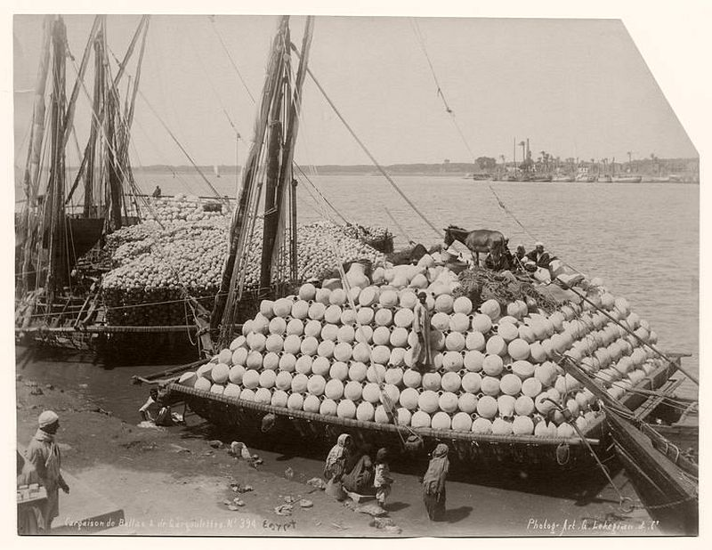Pottery shipping at Nile River