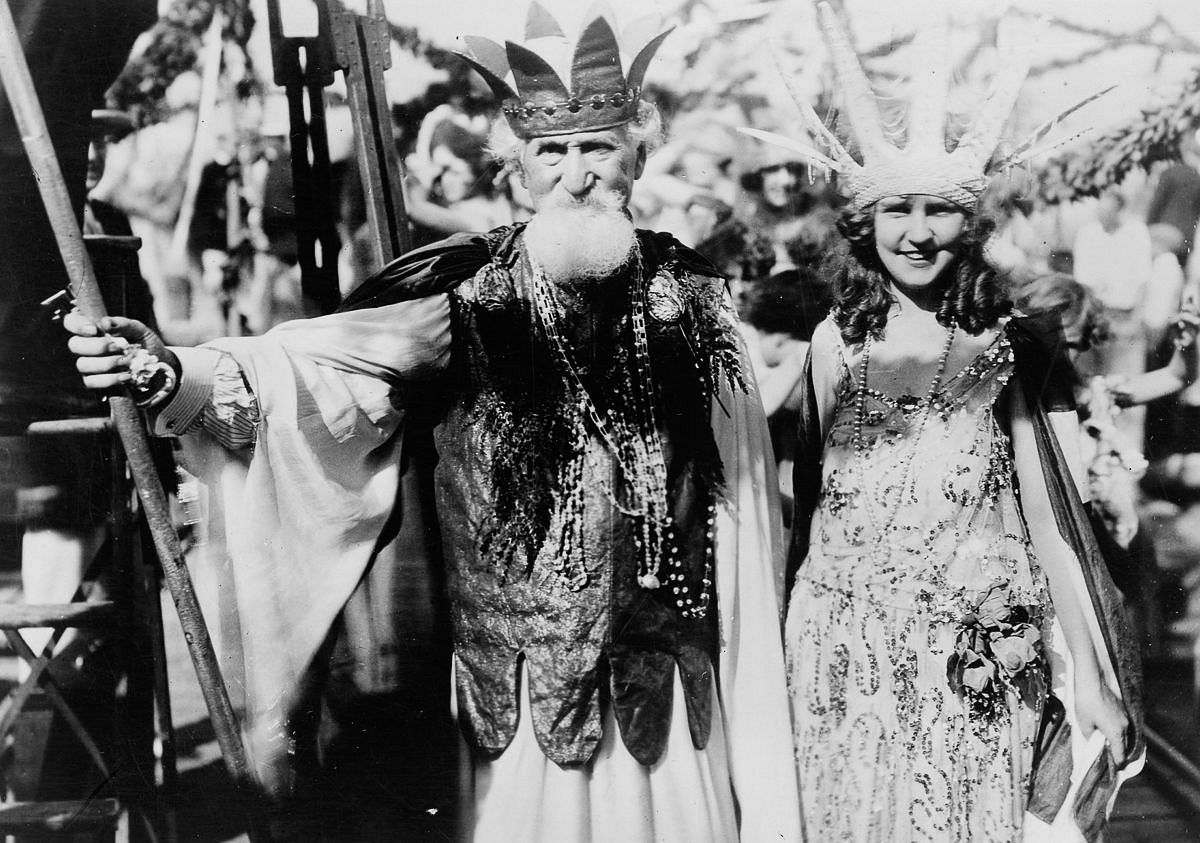 Sept. 7, 1922 - Gorman tours the Atlantic City Carnival with Hudson Maxim as Neptune.