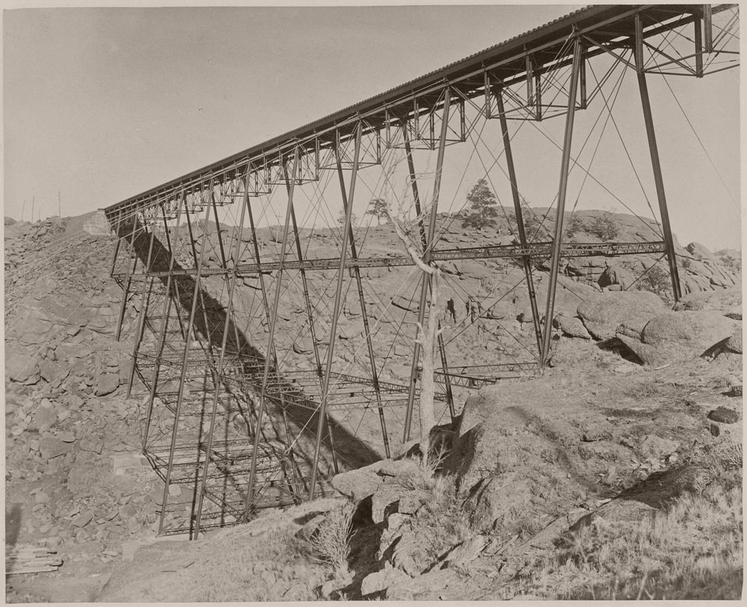 Dale Creek Iron Viaduct, Western Pacific Railroad, 1860 - 1879.