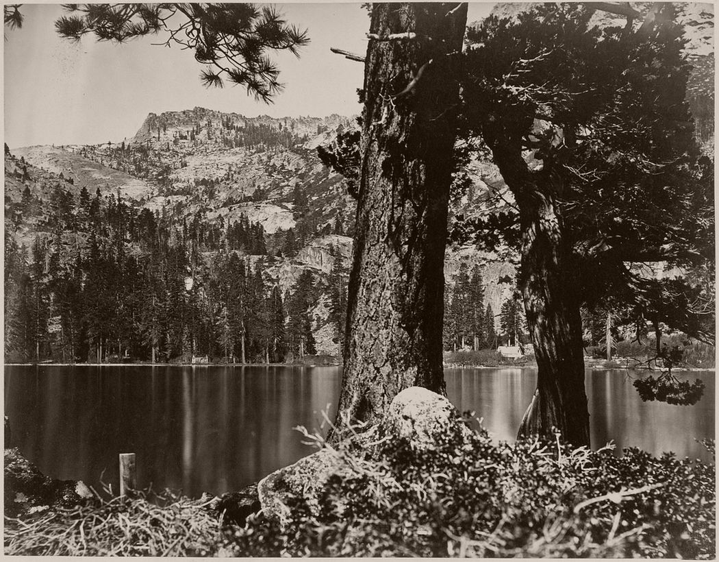 View in Emerald Bay-Lake Tahoe, 1860 - 1879.
