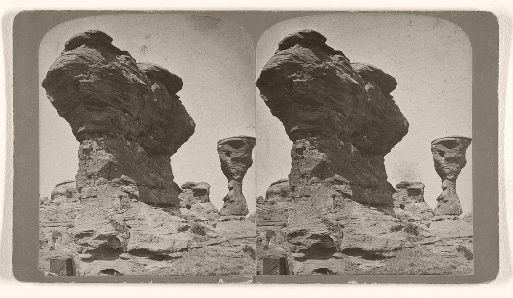 Centennial Rocks, near Red Buttes. 1870s.