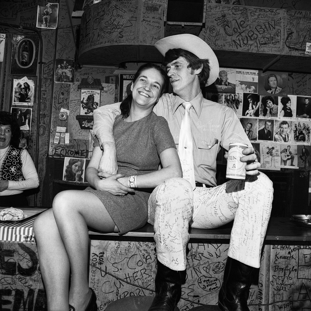 Fan and Musician, Tootsie's Orchid Lounge, Nashville, TN, 1974