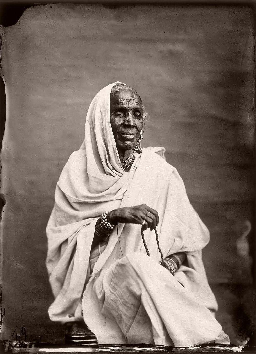 Portrait of a female supervisor of the harem in the royal palace of Jaipur, India, 1857–1865. (Photo by Maharaja Ram Singh III/Alinari via Getty Images)