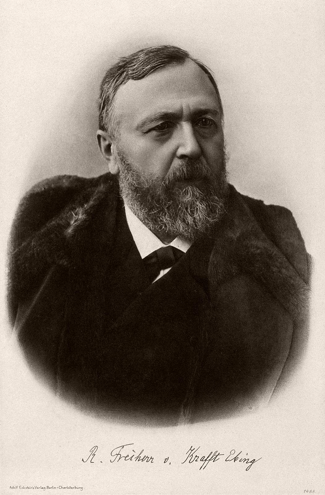 Portrait of Richard von Krafft-Ebing.