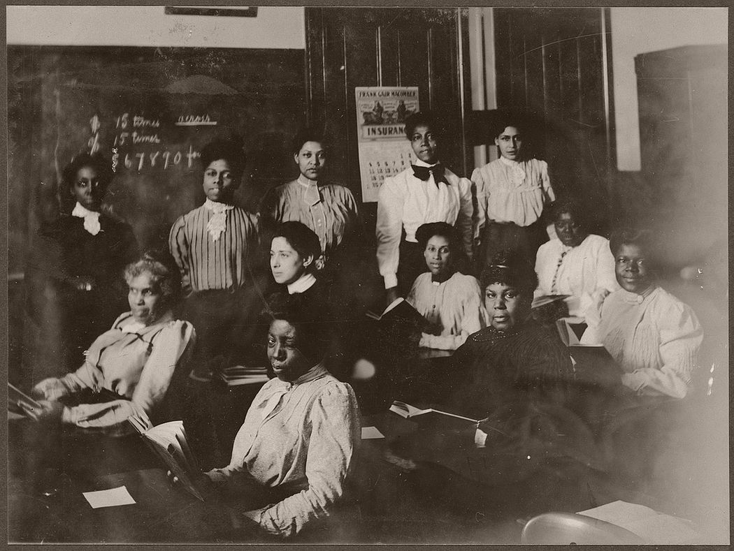 12 women students in a classroom