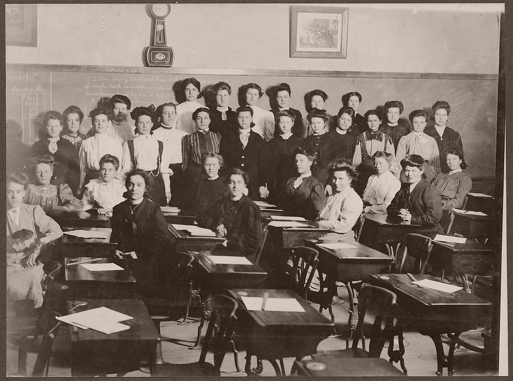 Female students pose for photographing