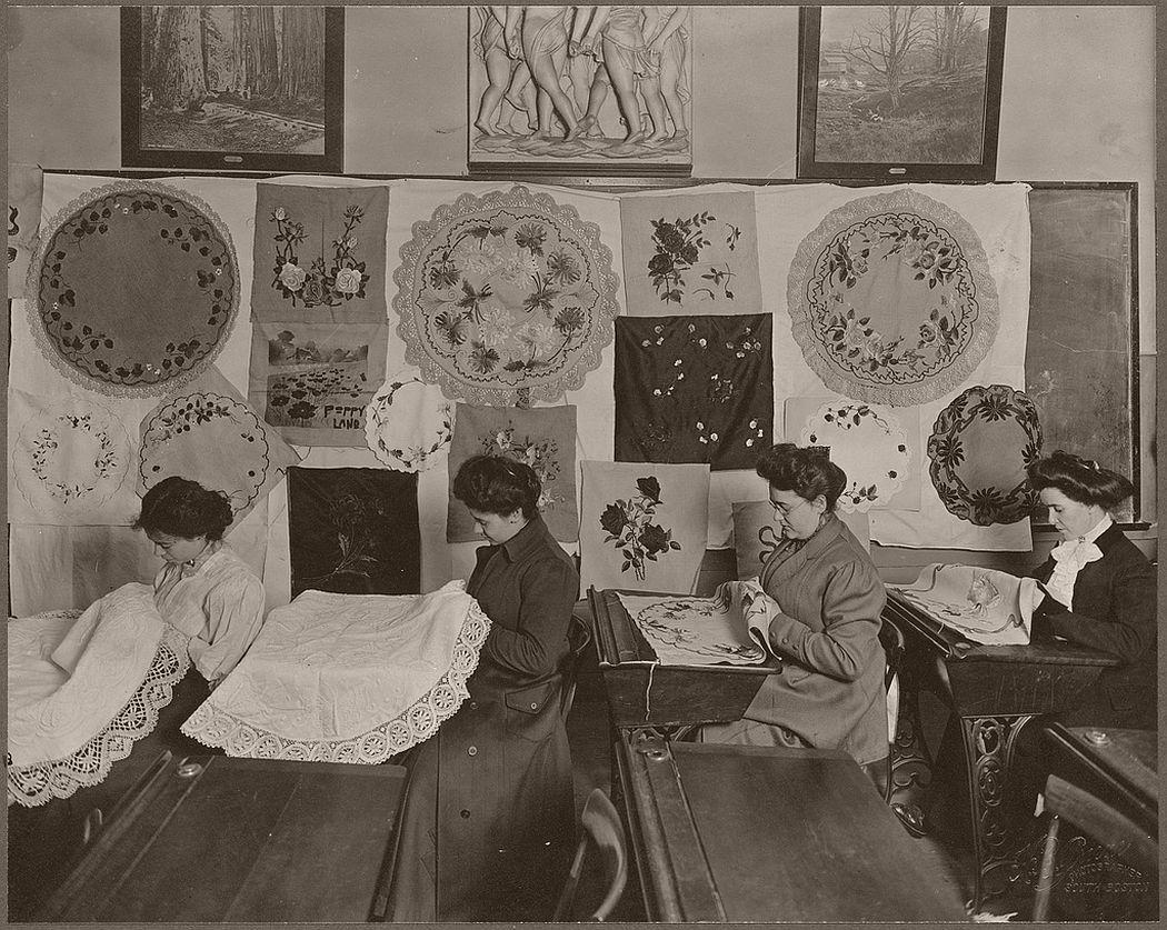 Advanced embroidery, Hancock Evening School