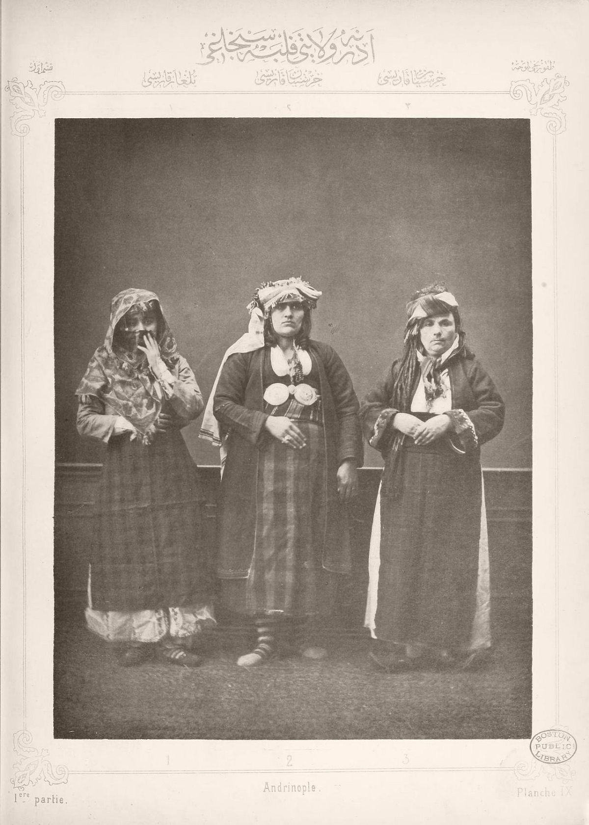 1. Bulgarian woman from Ahi Tchelebi 2. Greek woman from Haskovo 3. Peasant woman from Baidjas