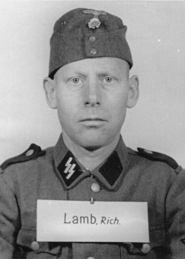 Richard Lamb, former miner. Joined SS in 1935 and reached rank of Rottenführer (Corporal).