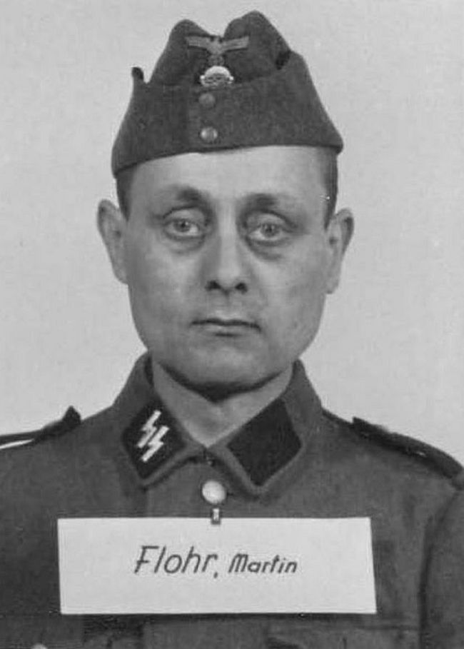 Martin Flohr, former locksmith. Joined SS in 1943 and reached rank of Sturmmann (Stormtrooper).