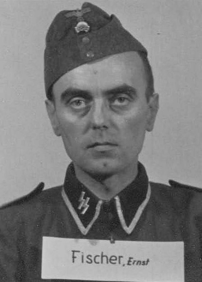Ernst Fischer, former pharmacist. Joined SS in 1941 and reached rank of Unterscharführer (Junior Squad Leader).