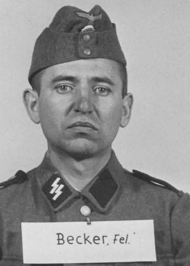 Felix Becker, former farmer. Joined SS in 1942 as a Sturmmann (Stormtrooper).