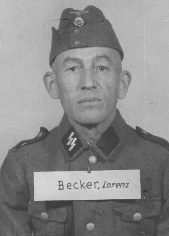 Lorenz Becker, former merchant. Joined SS in 1944 as a Schütze (Private).