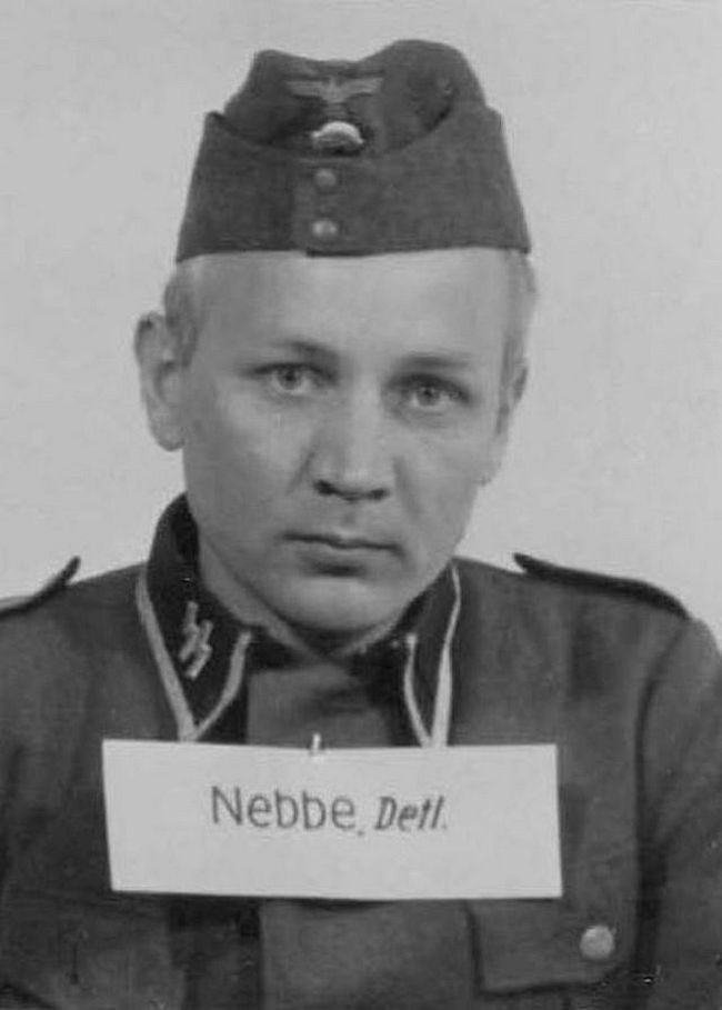 Detlef Nebbe, former merchant. Joined the SS in 1933 and reached the highest enlisted rank of Hauptscharführer (Head Squad Leader).