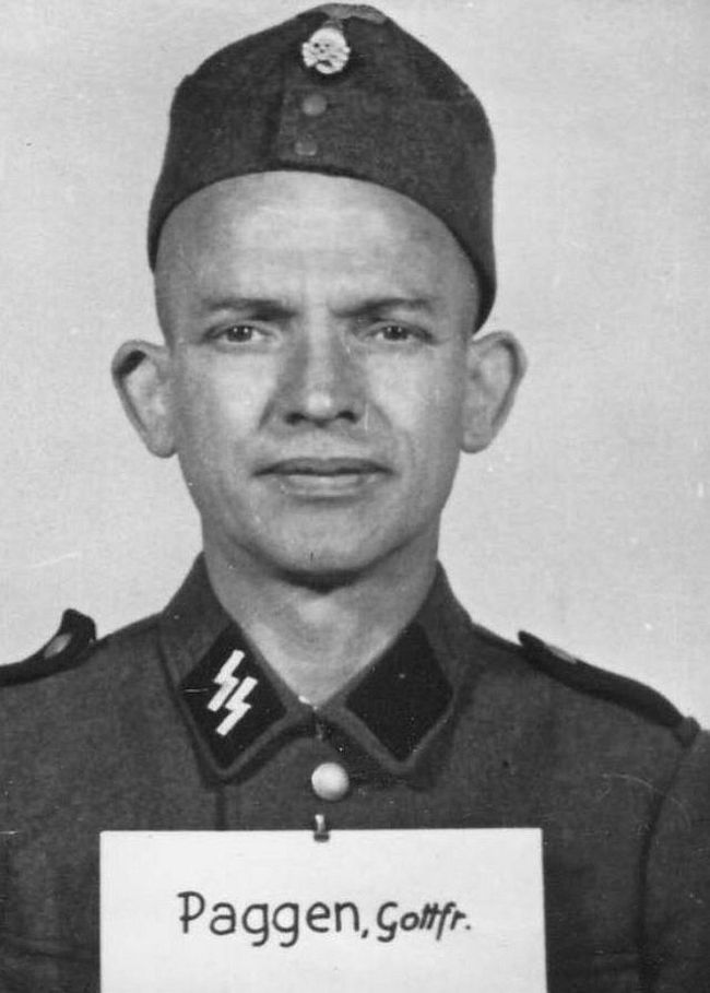 Gottfried Paggen, former laborer. Joined SS in 1944 as a Rottenführer (Corporal).