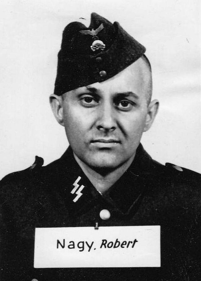 Robert Nagy, former electrician. Joined SS in 1942 as a Sturmmann (Stormtrooper).