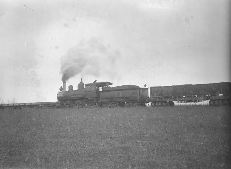 Steam engine near Spruce Grove, Alberta