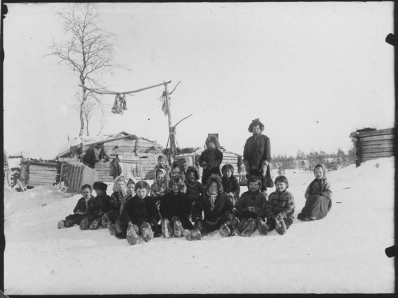 A group of schoolchildren