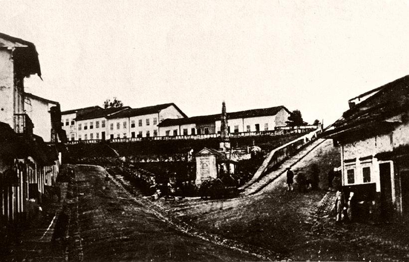 Piques wall, 1862