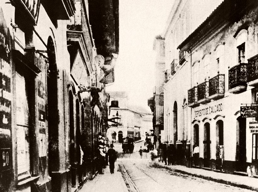 Imperatriz street, old Rosary street, 1887