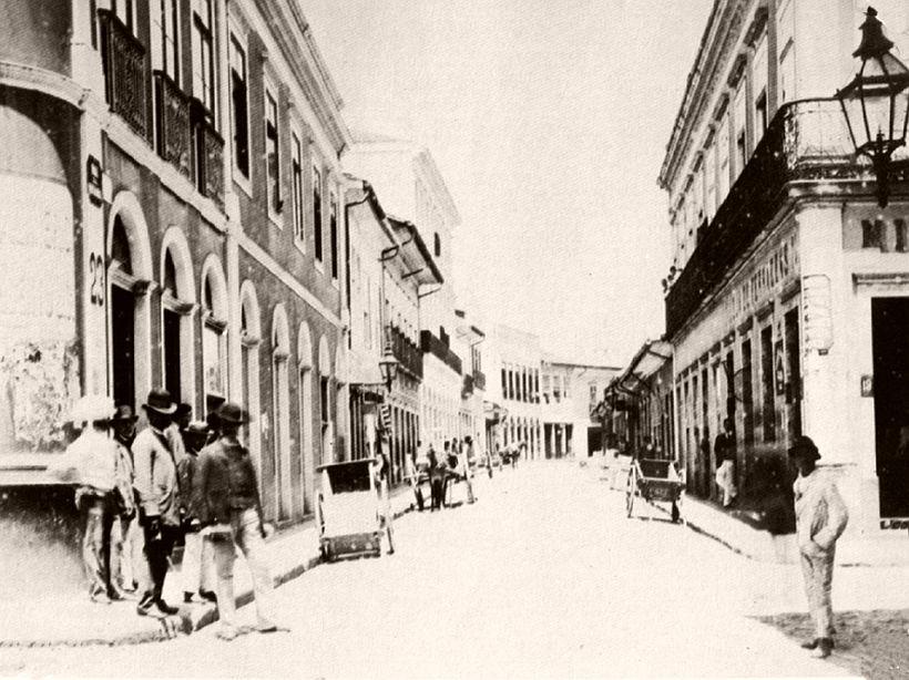 Quitanda street, 1887