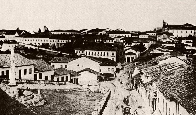 City of São Paulo view from the Piques, 1862