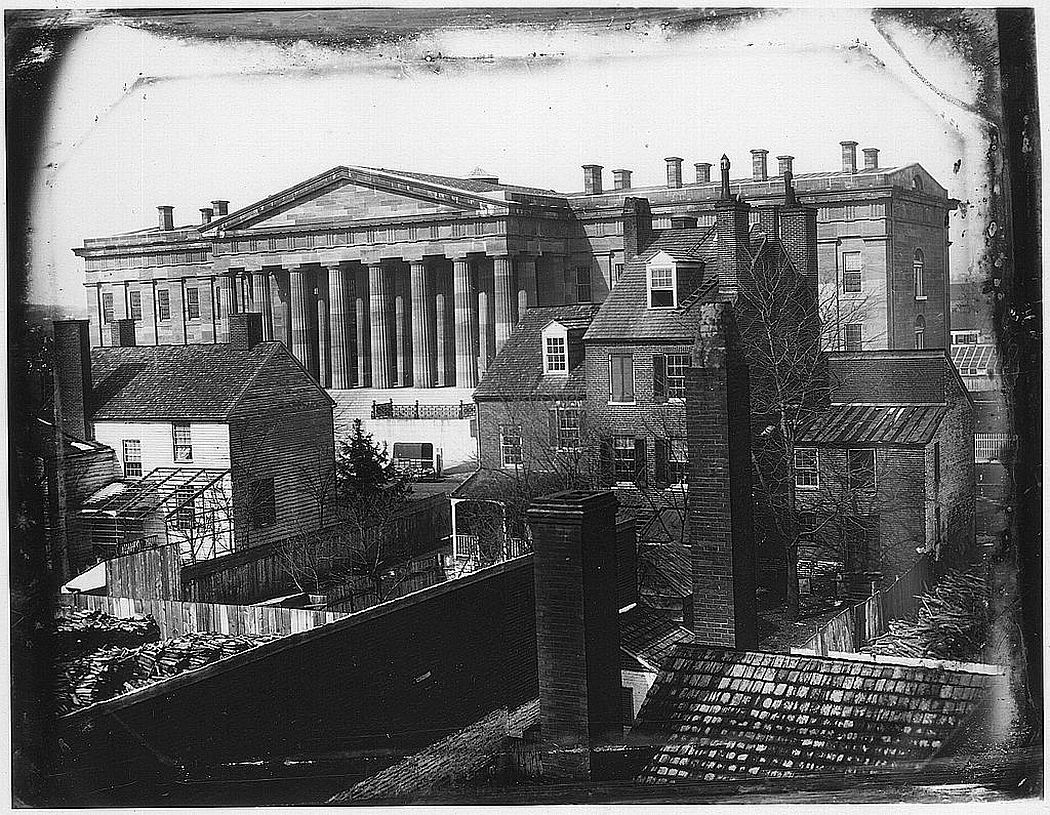 The United States Patent Office, photographed by John Plumbe, Jr., in 1846 (via Library of Congress)