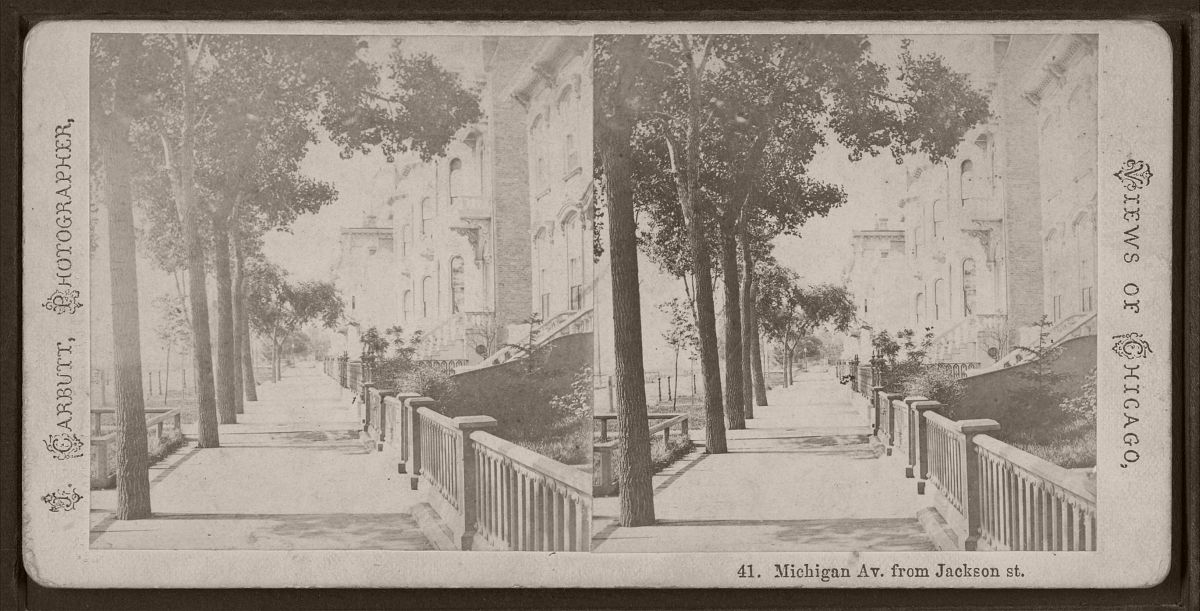Michigan Avenue, from Jackson Street, by Carbutt, John, 1832-1905