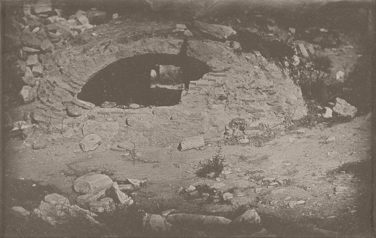 Joseph-Philibert Girault de Prangey, Cistern opening at the foot of the Erectheion, Acropolis, Athens, 1842