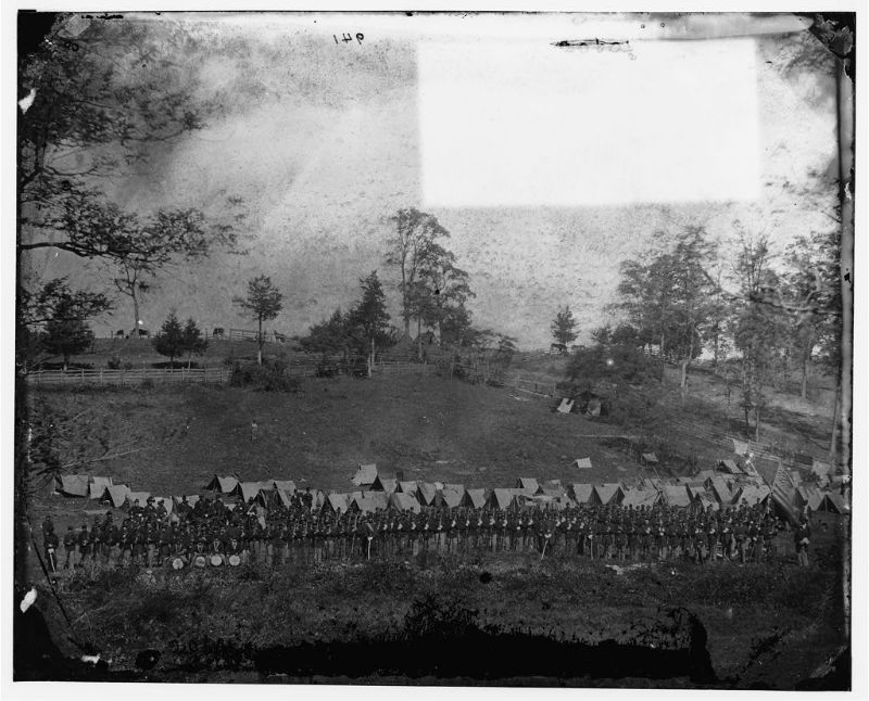 93rd New York Infantry, headquarters Army of the Potomac