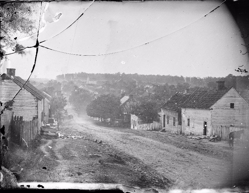 Main Street in Sharpsburg, Maryland, September 1862, after the Battle of Antietam