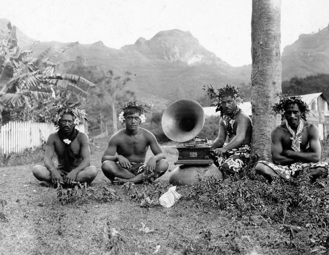 Inhabitants of Nuku Hiva, largest of the Marquesas Islands in French Polynesia, 1907.