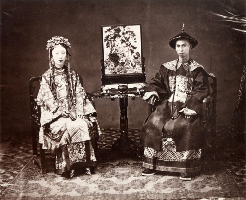 Cantonese mandarin and his wife, 1861-64