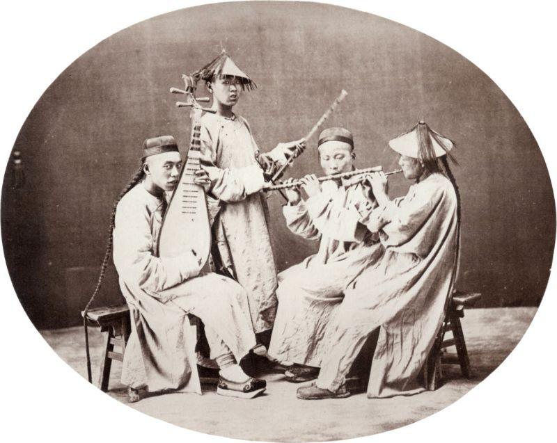Musicians, Shanghai, circa 1864