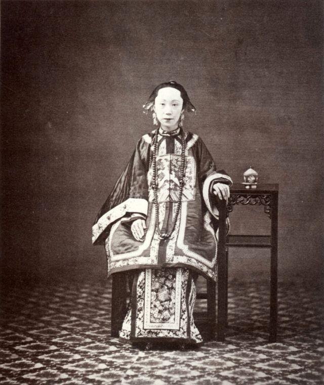 Wife of a mandarin, Canton, 1861-64